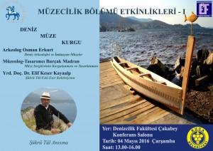 """4 Mayıs 2016 Deniz, Müze, Kurgu """"Şükrü Tül Anısına"""""""